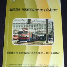 Mersul trenurilor de calatori CFR 2013-2014, Caile Ferate Romane - Ghid de calatorie