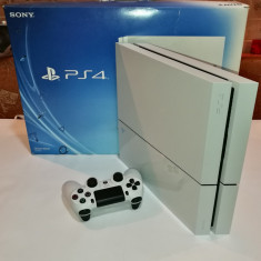 PS4 Glacier White (Alb) 500GB + Joc cadou! - PlayStation 4 Sony
