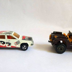Lot 2 masinute fier macheta Majorette France, Jeep 4x4 si Oldsmobile