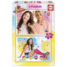 Puzzle 2x1 200 piese Educa Soy Luna
