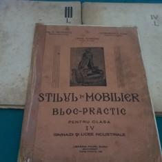 LOT 3 CAIETE *STILUL ÎN MOBILER ȘI *DESEN ORNAMELTAL ÎN LEMN/ 1946
