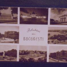 R.P.R. - BUCURESTI - 8 VEDERI VECHI DIN ORAS - CIRCULATA . - Carte Postala Muntenia dupa 1918, Fotografie