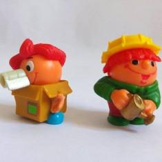 2 figurine Kinder mascote simpatice, plastic, 3cm