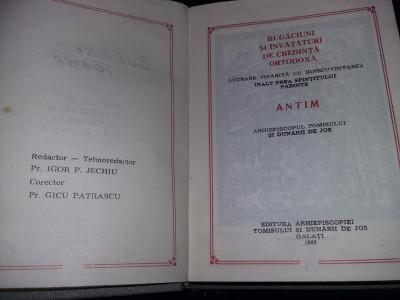 Carte veche 1983,RUGACIUNI si invataturi de credinta ortodoxa,Carte de rugaciuni foto