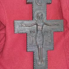 Crucifix ISUS, crucifix de perete vintage, superb 49 cm/28 cm, crucifix mare sfinti