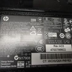 ALIMENTATOR HP HSTNN-LA12 19.5V 11.8A 230W HP PA-1231-66HJ, Incarcator standard