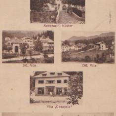 CARTE POSTALA BAILE OLANESTI-VALCEA ~ stampila 5 CENZURAT VALCEA 5 ~ - Carte Postala Oltenia dupa 1918, Ramnicu Valcea, Circulata, Printata
