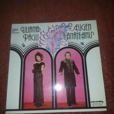 Liliana Pagu - Eugen Fanateanu –Solistii Operetei din Bucuresti ECE 01817 vinil - Muzica Opera Altele