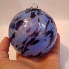 Glob de sticla cristal Murano, 9cm diametru, decor - Bibelou