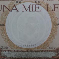 Bancnote romania 1000lei 1936 - Bancnota romaneasca