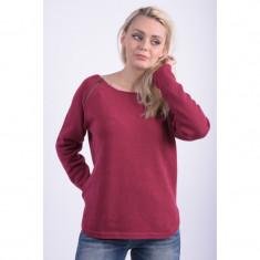 Pulover Dama Vila Mara Zip Knit Top Rumba Red, Marime: XL, Culoare: Rosu