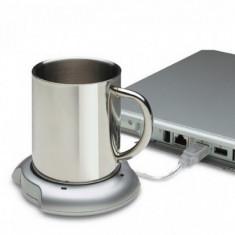Suport USB pentru mentinerea temperaturii cafelei sau ceaiului