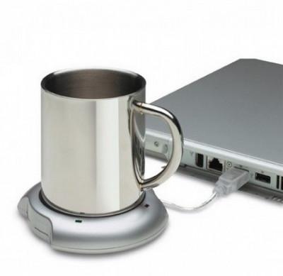 Suport USB pentru mentinerea temperaturii cafelei sau ceaiului foto