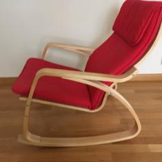 Scaun balansoar Poang rosu de la Ikea - Scaun living
