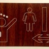 Placi indicatoare baie+toaleta