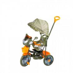 Tricicleta DHS Jolly Ride, kaki, portocaliu - Tricicleta copii