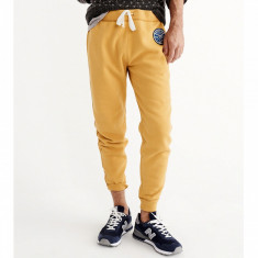Pantaloni ABERCROMBIE FITCH - Trening Sport Barbati - 100% AUTENTIC - Pantaloni barbati, Marime: M, Culoare: Galben, Lungi, Bumbac