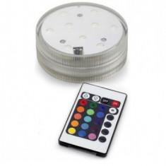 Lampa submersibila multicolora cu 9 leduri si telecomanda