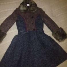 Palton de lana pt fete, Marime: 36, Culoare: Multicolor