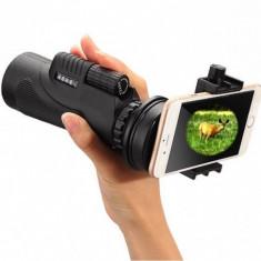 Telescop portabil cu suport pentru telefon cu focalizare zoom 12x
