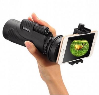 Telescop portabil cu suport pentru telefon cu focalizare zoom 12x foto