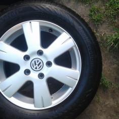 Jante + pneuri de vara - Janta aliaj Volkswagen, Diametru: 15, Numar prezoane: 5