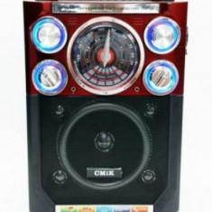 Boxa portabila cu radio si microfon, usb, mp3, card SD
