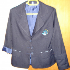 Sacou uniforma - Uniforma scolara, Marime: Alta, Culoare: Bleumarin