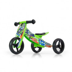 Bicicleta tranformabila Jake Green Cars - Bicicleta copii