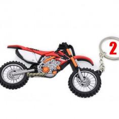 Breloc  HONDA CRF silicon motocicleta  ambalaj cadou