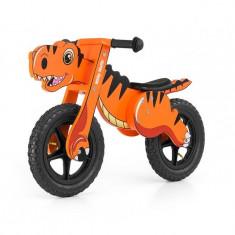 Bicicleta fara pedale Dino Orange - Bicicleta copii