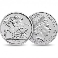 SV * Marea Britanie  UK  20  POUNDS 2013  15.71 g  ARGINT .999  < Sf. Gheorghe >, Europa