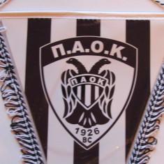 Fanion fotbal PAOK SALONIC (Grecia) - dimensiuni 35x27 cm