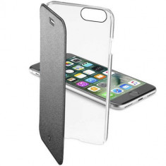 Husa Flip Cover Cellularline CLEARBOOKIPH747K Agenda Clear Negru pentru Apple iPhone 7 - Husa Telefon