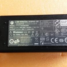 45.Incarcator Laptop Lenovo, MSI 20V 2A 40W 0225A2040 5.5mm 2.5mm + Cablu Alimen