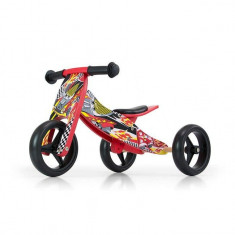 Bicicleta tranformabila Jake Red Cars - Bicicleta copii