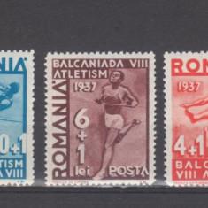 Romania 1937 A 8-a Balcaniada de Atletism-Bucuresti ( A ) - Timbre Romania, Sport, Nestampilat