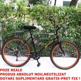 """Bicicleta MTB urban Rich Sport, R2618A, dimensiune roata 26"""", Negru,Portocaliu, 6"""