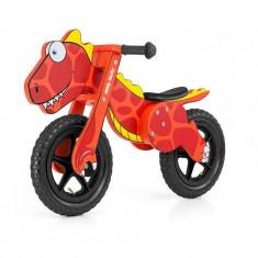 Bicicleta fara pedale Dino Red - Bicicleta copii