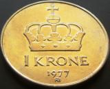 Moneda 1 Coroana - NORVEGIA, anul 1977   *cod 4322, Europa