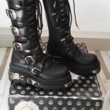 Cizme NEW ROCK Model 272-S1 HIGH BOOTS REACTOR, purtate o singura data!