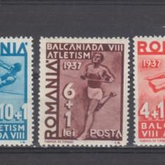 Romania 1937 A 8-a Balcaniada de Atletism-Bucuresti ( B ) - Timbre Romania, Sport, Nestampilat