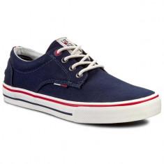 Tenisi Hilfiger Denim | Hilfiger Vic 1D Mens Canvas Shoes nr. 41 42 44 - Tenisi barbati Tommy Hilfiger, Culoare: Albastru, Textil