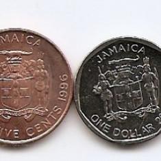 Jamaica Set 6 - 1, 10, 25 Cents 1, 10, 20 $ 1990/08 - RR1, America de Nord