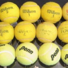 Colectie 29 mingi de tenis Roland-Garros Australian Open US Open + racheta lemn - Racheta tenis de camp, SemiPro, Adulti