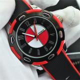 Ceas model auto DESIGN Womage curea silicon moale soft + cutie cadou - Ceas barbatesc, Quartz