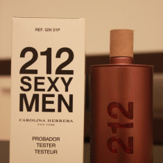 Parfum Original Carolina Herrera 212 Sexy Men EDT (100ml) Tester - Parfum barbati Carolina Herrera, Apa de toaleta