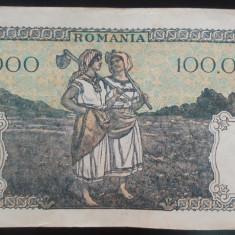Bancnota 100000 lei - ROMANIA, anul 1946 / Octombrie *cod 58