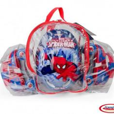 Spiderman - Set (Patine Cu Rotile, Casca, Genunchiere, Cotiere) - Role