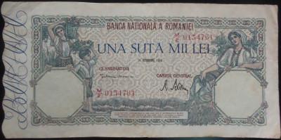 Bancnota 100000 lei - ROMANIA, anul 1946 / Octombrie *cod 54 foto